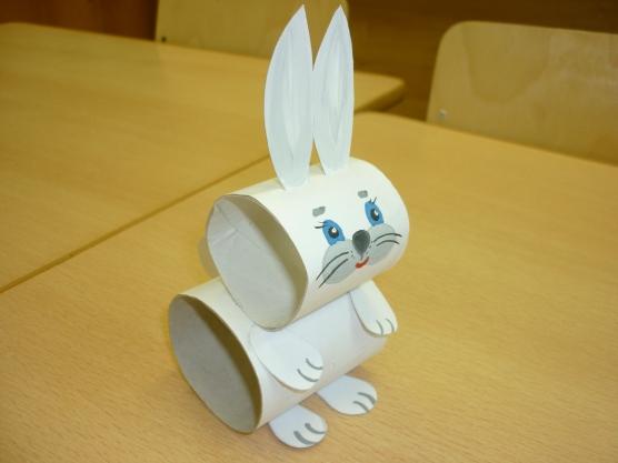 Зайчика из бумаги
